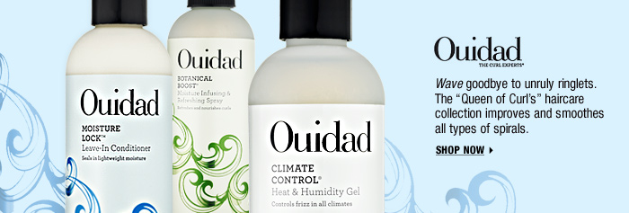 OUIDAD. Wave goodbye to unruly ringlets. The ''Queen of Curl's'' haircare collection improves and smoothes all types of spirals. SHOP NOW >