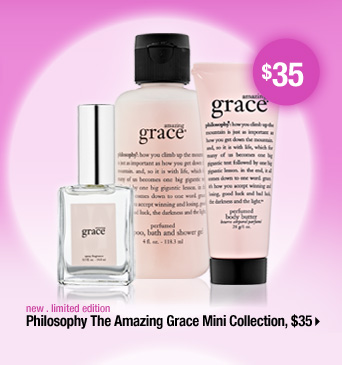 new . limited edition. Philosophy The Amazing Grace Mini Collection, $35 &gt
