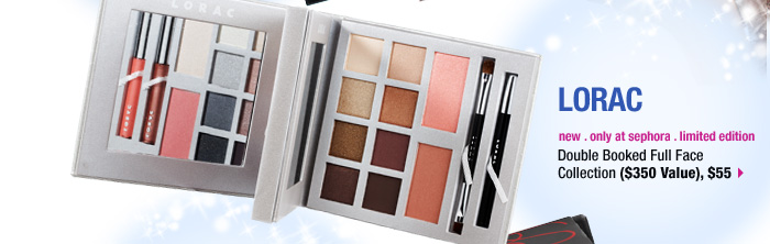 new . only at sephora . limited edition. LORAC Double Booked Full Face Collection ($350 Value), $55 &gt