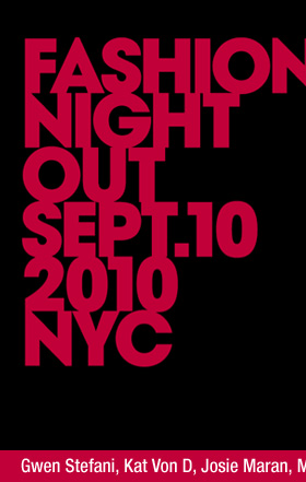 Fashion's night out Sept. 10 2010 NYC