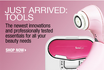 JUST ARRIVED: TOOLS. The newest innovations and professionally tested essentials for all your beauty needs. SHOP NOW >