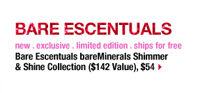 BARE ESCENTUALS | new . exclusive . limited edition . ships for free | Bare Escentuals bareMinerals Shimmer & Shine Collection ($142 Value), $54