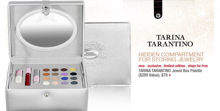 hidden compartment for storing jewelry. new . exclusive . limited edition . ships for free. TARINA TARANTINO Jewel Box Palette ($299 Value), $78 >