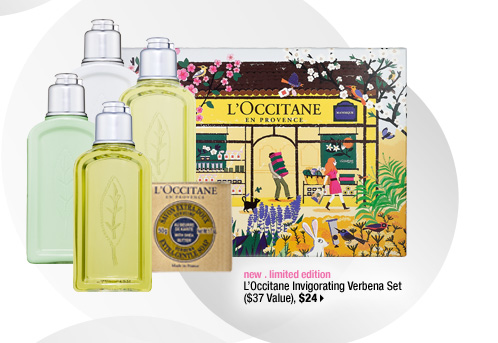 new . limited edition. L'Occitane Invigorating Verbena Set ($37 Value), $24