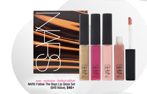 new . exclusive . limited edition. NARS Follow The Boys Lip Gloss Set ($48 Value), $40