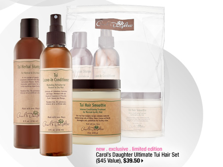new . exclusive . limited edition. Carol's Daughter Ultimate Tui Hair Set ($45 Value), $39.50