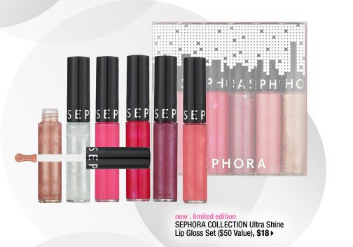 new . limited edition . SEPHORA COLLECTION Ultra Shine Lip Gloss Set ($50 Value), $18