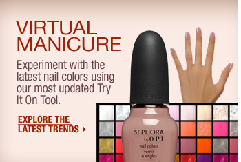 Virtual Manicure. Experiment with the latest nail colors using our most updated Try It On Tool. Explore the latest trends >