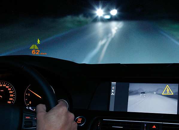 Driving a BMW with night vision