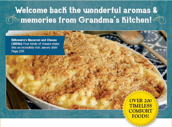Welcome back the wonderful aromas & memories from Grandma's kitchen!