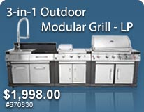 3-in-1 Outdoor Modular Grill