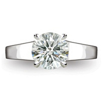 1.60 ct. Round Brilliant-Cut Diamond Solitaire Ring in Platinum (D, SI1)