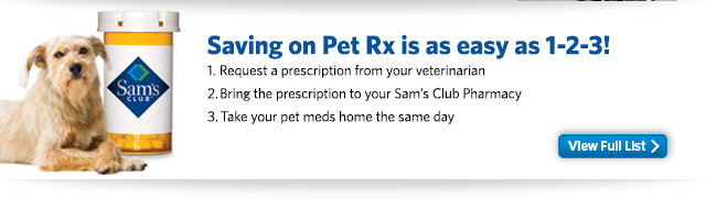 Saving on Pet Rx is as easy as 1-2-3! View Full List