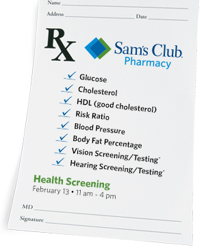FREE health screenings.*
