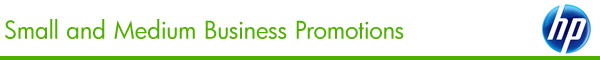 HP Small and Medium Business Promotions