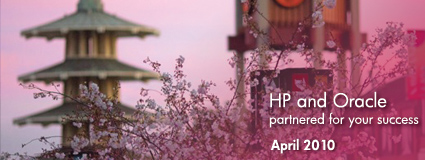 HP and Oracle partnered for your success April 2010