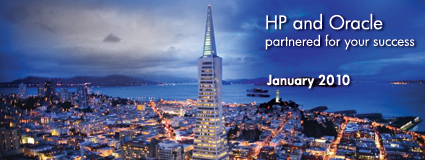 HP and Oracle partnered for your success January 2010