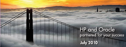 HP and Oracle partnered for your success July 2010