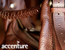 purse with accenture logo