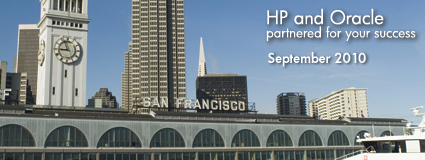 HP and Oracle partnered for your success September2010
