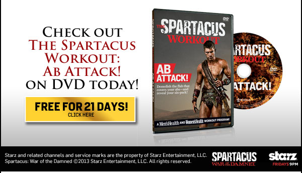 Check out The Spartacus Workout: Ab Attack! on DVD today!