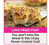 Love fried fish? You won't miss the wheat in this crispy Pecan-Crusted Cod!