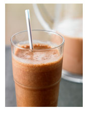 Enjoy Homestyle Meat Loaf and Chocolate-Almond Smoothies!
