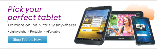 Pick your perfect tablet - Do more online virtually anywhere! - Lightweight - Portable - Affordable - Shop Tablets Now
