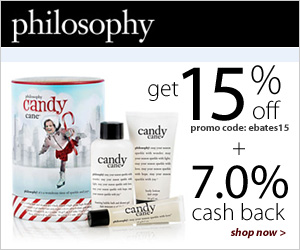 philosophy - get 15% off with code: ebates15 at checkout. Shop now.
