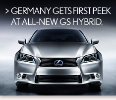 Germany gets first peek at all-new GS Hybrid.
