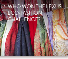 Who won the Lexus Eco-Fashion Challenge?
