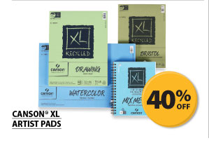 40% off Canson&#174; XL Artist Pads.