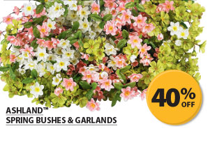 40% off Ashland&#8482; Spring Bushes & Garlands.