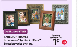 OVER 200 STYLES - buy one get one for 1¢** Tabletop Frames. Expressions™ & Connections™ by Studio Décor™. Selection varies by store.