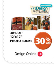 MiDesign@Michaels Photo Creations. 30% OFF 12'' x 12'' PHOTO BOOKS Design Online.