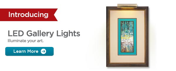 Introducing LED Gallery Lights - Illuminate your art. Learn More