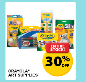 Entire Stock! 30% off — Crayola® Art Supplies