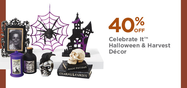 40% OFF Celebrate It™ Halloween & Harvest Décor
