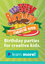 Birthday Parties for creative kids. Learn more!