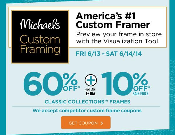 michaels custom framing americas 1 custom framer preview your frame in store - Michaels Coupons For Framing