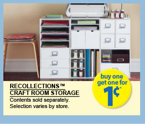 Just a penny just in time for back to school from michaels for Recollections craft room storage amazon
