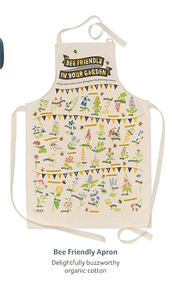 Bee Friendly Apron... Delightfully buzzworthy organic cotton