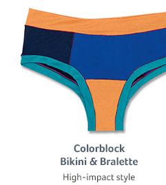Colorblock Bikini & Bralette... High-impact style