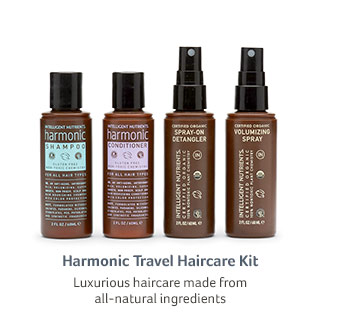 Harmonic Travel Haircare Kit... Luxurious haircare made from all-natural ingredients