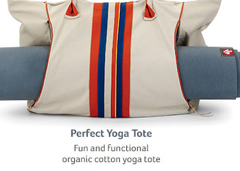 Perfect Yoga Tote... Fun and functional organic cotton yoga tote
