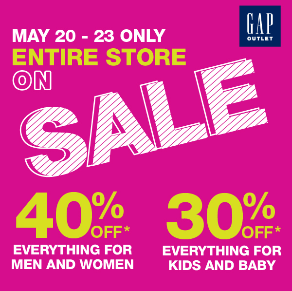 MAY 20 -23 ONLY | ENTIRE STORE ON SALE