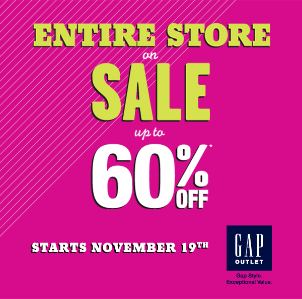 ENTIRE STORE ON SALE UP TO 60% OFF | STARTS NOVEMBER 19TH