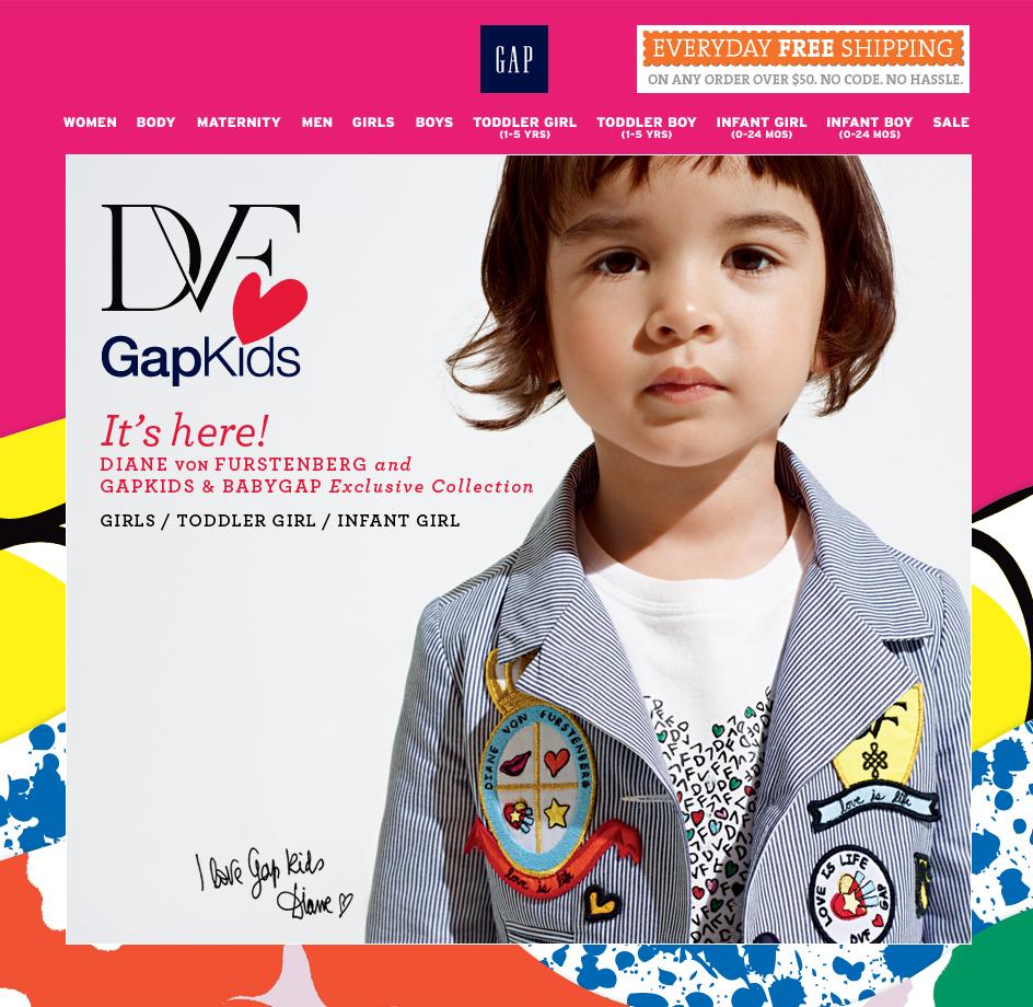 DVF GapKids. It's here! DIANE VON FURSTENBERG and GAPKIDS and BABYGAP Exclusive Collection